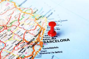 Barcelona kort